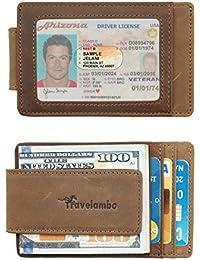 Money Clip Front Pocket Wallet Slim Minimalist Wallet RFID Blocking