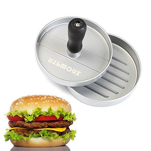 ATPWONZ Burger Press Hamburger Patty Maker Non Stick Aluminum Patty Mold for BBQ 5