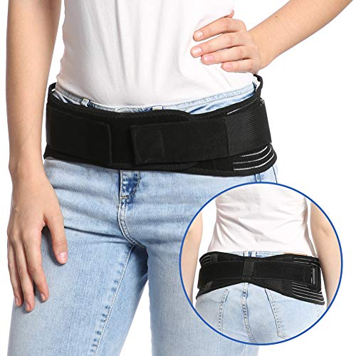 - Sacroiliac Hip Belt for Women and Men Alleviate Sciatic, Pelvic, Lower Back and Leg Pain, Stabilize SI Joint | Trochanter Belt | Anti-Slip and Pilling-Resistant, L (L/XL (Hip 37
