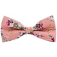 Mantieqingway Men's Cotton Floral Bow Tie