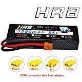 HRB 3S 11.1V 3300mAh 35C Max 70C hardcase RC Lipo Battery with XT60 EC3 Deans T Traxxas Tamiya Connector for RC Traxxas Cars Boat Truck Buggy Truggy