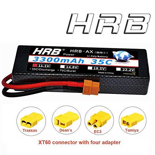 HRB 3S 11.1V 3300mAh 35C Max 70C hardcase RC Lipo Battery wi