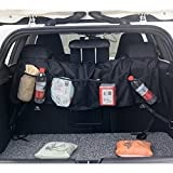 TechCode Car Organizers Mat, Auto Organizer Pockets, Waterproof Car Trunk Back Seat Organiser Protector Covers Travel Hanging Storage Bag Tidy Pouch Automobiles Accessories More Trunk Space