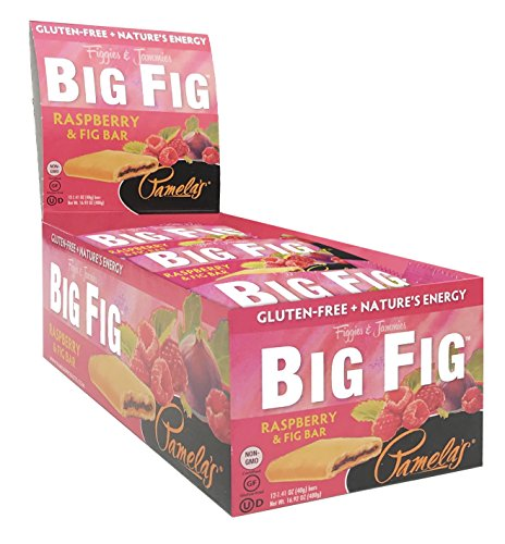 Pamela's Gluten Free Giant Sized Big Fig Cookies, Raspberry & Fig, 12 Count (Pack of ()
