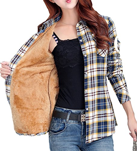 totoship-long-sleeve-plaid-flannel-warm-shirt-fleece-lined-blouse-up-us-6-blue