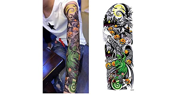 4 UNIDS, Nuevo brazo completo tatuaje temporal mangas buda geisha ...