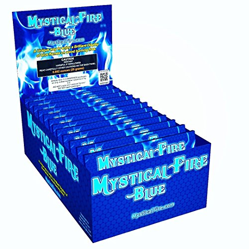 Mystical Fire BLUE Campfire Fireplace Colorant Packets (6 Pack, Blue)