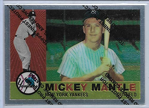 - 1996 Finest Baseball Mickey Mantle Commemorative 1960 Topps Reprint Card # 10