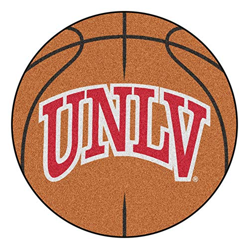 NCAA University of Nevada, Las Vegas (UNLV) Rebels Basketball Shaped Mat Area Rug ()