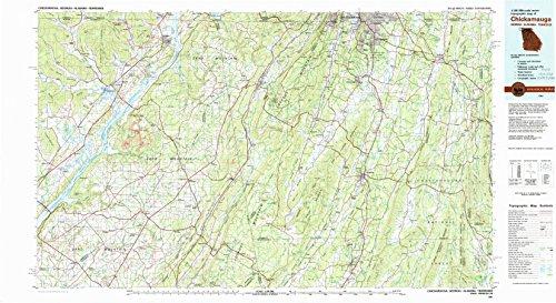 YellowMaps Chickamauga GA topo map, 1:100000 Scale, 30 X 60 Minute, Historical, 1981, Updated 1982, 24.1 x 44.1 in - ()