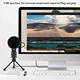 USB Gaming Condenser Microphone,XIIVIO Plug&Play