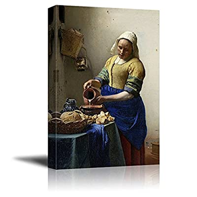 The Kitchen Milkmaid Maid by Vermeer Giclee Canvas Prints Wrapped Gallery Wall Art | Stretched and Framed Ready to Hang -16