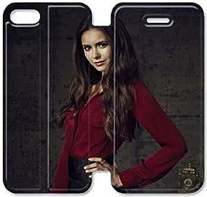 Vampire Diaries Temporada A9V23A7 caso del iPhone 4 funda de cuero 4S flip S3L84B8 únicos funda de cuero protectora del teléfono