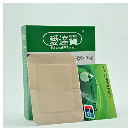 Large Waterproof Bandage Pack of 30pcs Waterproof Breathable 4in*3in Large Adhesive Bandages Pads First aidfor Large ()