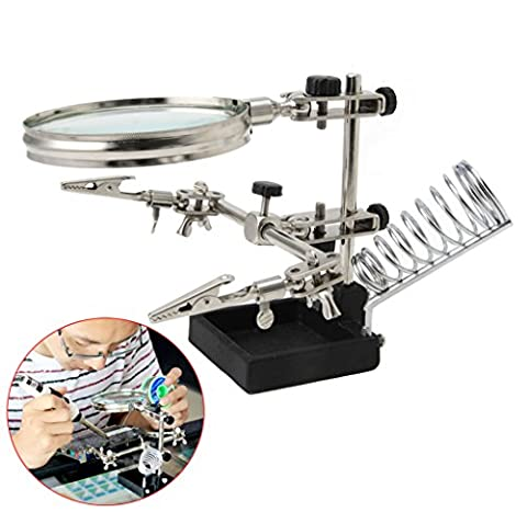 BushYou Portable Multifunction Welding 3X Magnifying Lens Soldering Iron Stand Holder Tool - Iron Multifunction Tool