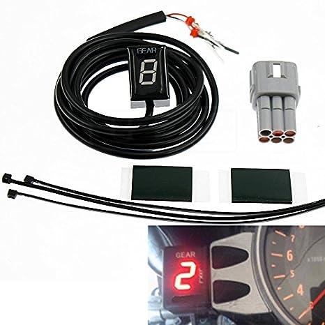 GFYSHIP Motorcycle LCD Electronics 1-6 Level Gear Indicator Digital Gear Meter For Suzuki GSXR600 GSXR750 2004 2005 GSXR1000 2003 2004 GSX1400 2004-2009 GSXR 600 750 1000 GYF