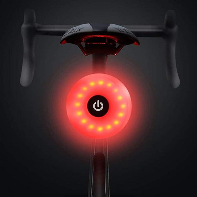 WASAGA Luz Trasera de Bicicleta, LED USB Recargable, Impermeable ...