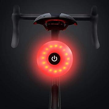WASAGA Luz Trasera de Bicicleta, LED USB Recargable, Impermeable, Advertencia, 5 Modos, luz Trasera (Azul): Amazon.es: Deportes y aire libre