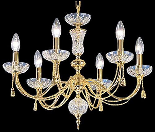 Classic Lighting 5486 G Weatherford Rope, Traditional, Chandelier, 24.0