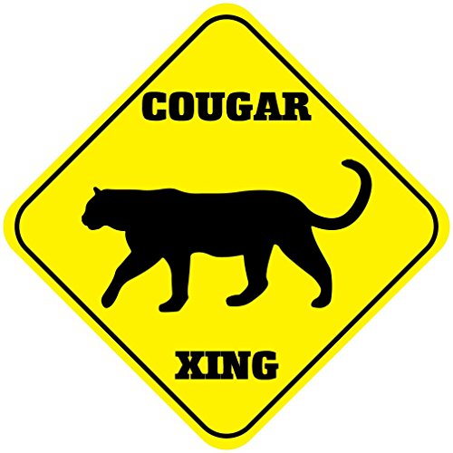 Cougar Crossing Funny Metal Aluminum Novelty Sign Crossing Aluminum Sign