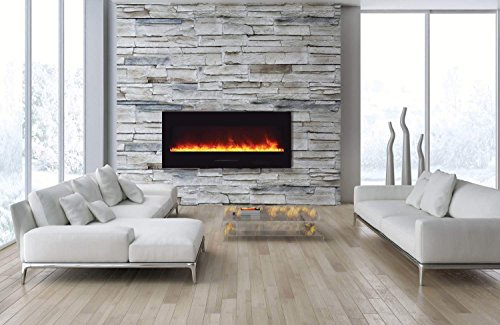 green electric fireplace - 9