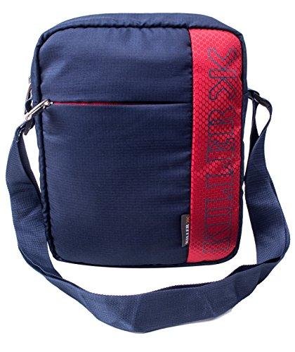 KILLER Polyester Navy Blue & Red Messenger Bag For Unisex