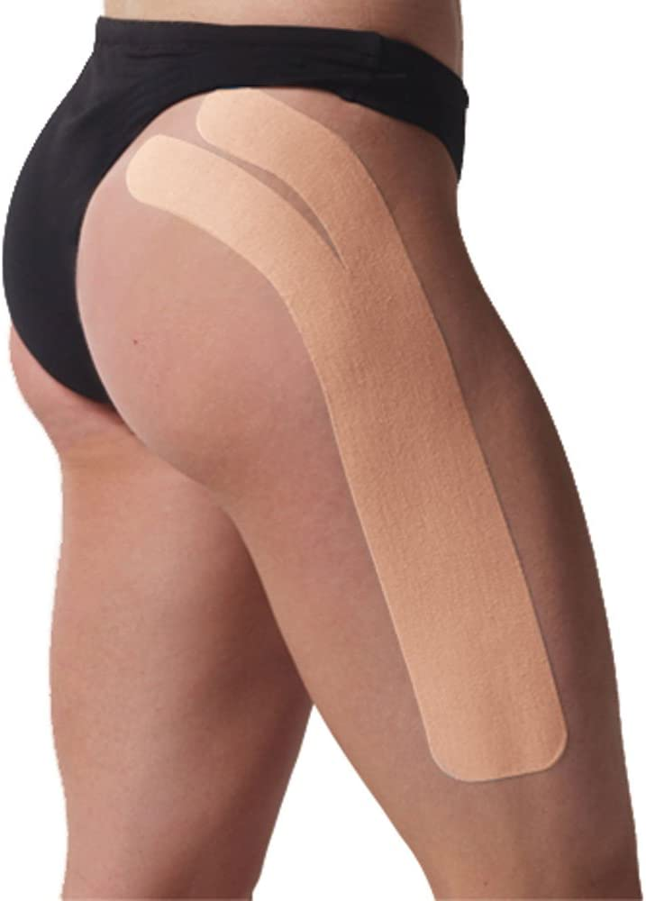 Spidertech Hip Spider Pre-Cut [Beige]. Water-Resistant, Latex-Free and Easy to use. Preferred by Athletes. Reduce Pain and Inflammation, Help re-Train Muscles, Enhanced Performance.