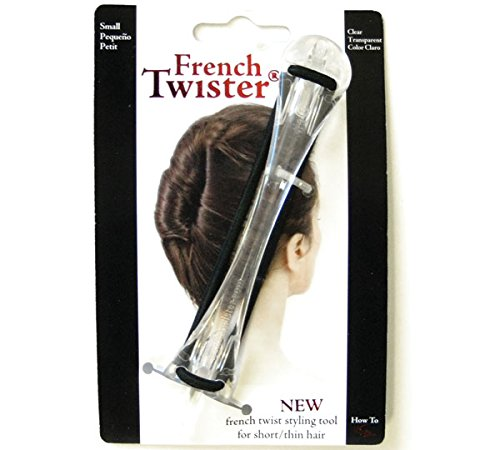Mia French Twister UpDo Hair Styling Tool Small Size for Short or Thin Hair Clear Color for Women Girls DressUp Brides 1pc PATENTED