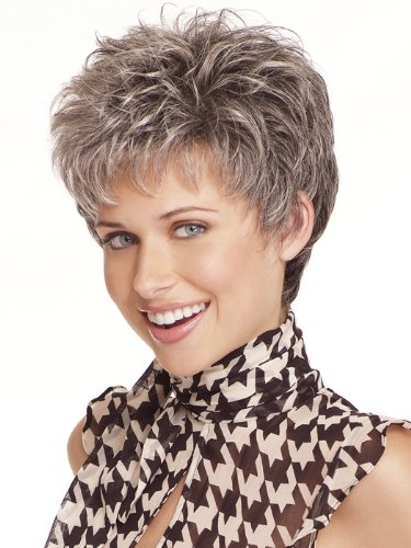 NiceToBuy Synthetic Wigs Silver Grey Fashion Style Hair For Cosplay Daily Wear Costum Party Short Curly Hair Wigs For Women ()