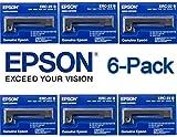 6-Pack Genuine Epson (ERC-22B) Black Ribbon Cartridge For: M-180, M-180H, M-181, M-182, M-183, M-183H, M-185, M-190 / 191 / 192 / 195, M-190G / 192G