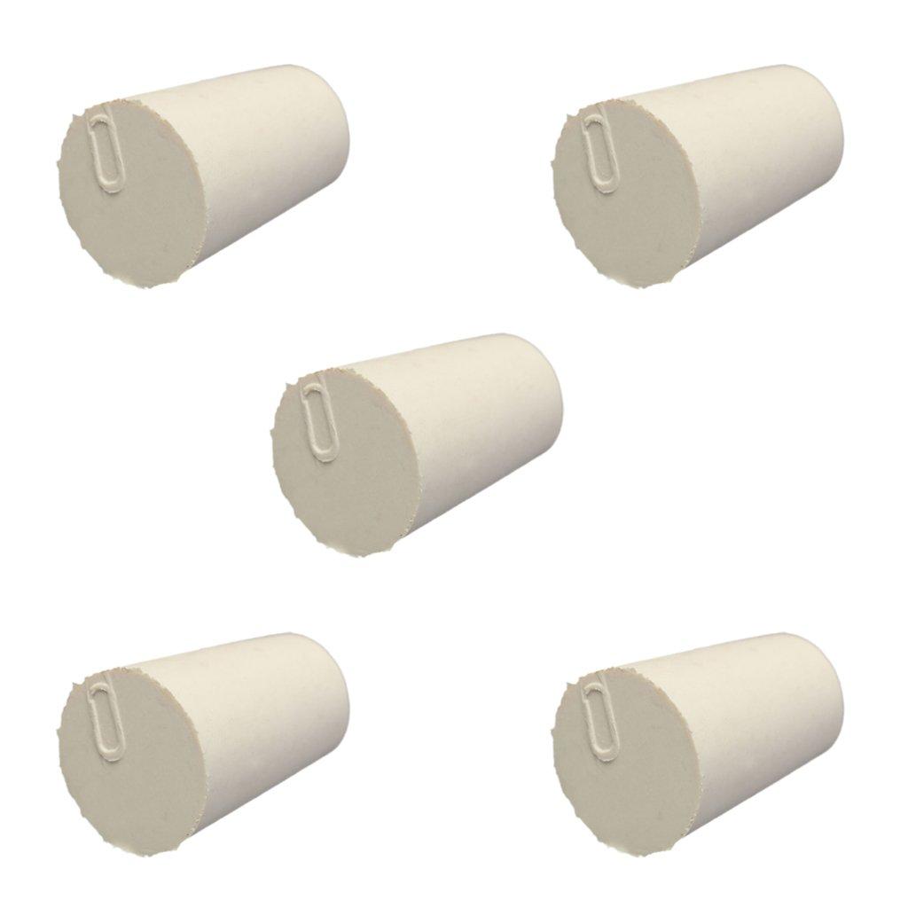 15x11x20mm 5pcs Bouchon En Caoutchouc Laboratoire Solide Bondes Flacon Tube Effil/é Branche