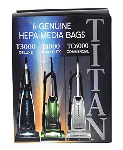 Titan T3000, T4000, TC6000 HEPA Paper Vacuum Bags TUV-H 6PK