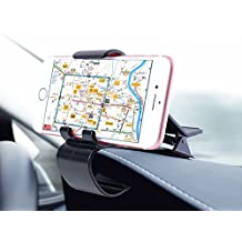 Venoro Non-Slip Dashboard Car Mount Universal Phone Holder for iPhone X / 8 / 8 Plus / 7 / 7 Plus / 6s / Samsung Galaxy S9 Plus / S9 / S8 / Note 8 / Google / LG / GPS Devices and more (Black, 1 Pack)