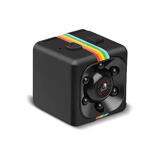 Mini Cámara Espía 1080P HD Cámara de Vigilancia Portátil Secreta y Compacta con Detector de Movimiento IR y Visión Nocturna, Cámara de Seguridad para ...