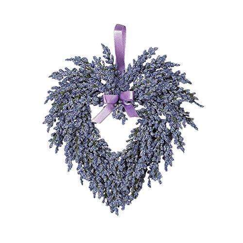 Hanging Heart-Shaped Wreath - Purple - Lavender