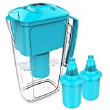 OXA 10 Cup Long-Lasting Water Filter Pitcher with Two x 60-Day Filters, Alkaline Water Purifier, Filtration System, BPA-Free, 2.5 L