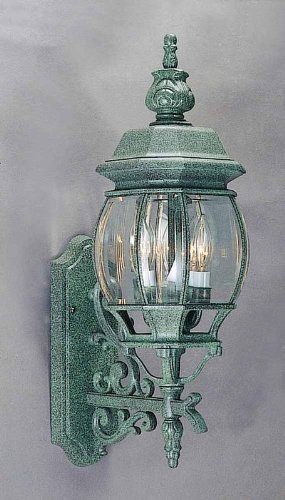 Volume International V8760 3 Light Outdoor Sconce Mottled Verde Green