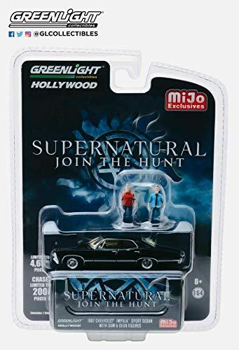 2005 Chevy Models - 1967 Chevrolet Impala Sport Sedan Black w/Sam and Dean Figurines Supernatural (2005) TV Series Ltd Ed 4,600 pcs 1/64 Diecast Car by Greenlight 51206
