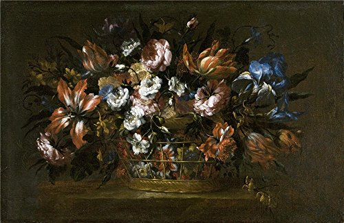 The High Quality Polyster Canvas Of Oil Painting 'Perez Bartolome Florero En Un Canastillo 17 Century ' ,size: 20 X 31 Inch / 51 X 78 Cm ,this Replica Art DecorativeCanvas Prints Is Fit For Kids Room Artwork And Home Decor And Gifts