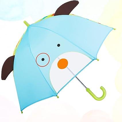 Paraguas plegables Paraguas de los niños Mujer de dibujos animados Súper ligero Manija recta Princesa Bebé