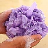 1Pcs Bath Shower Set Mesh Net Scrub Body Strap Exfoliate Puff Sponge Loofah Flower Lace Ball^