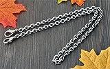 Width 7mm Polish 4 Surface Metal chains for women metal chain purse handles / bag chain / chain belt DIY (55 inch, Silvery)