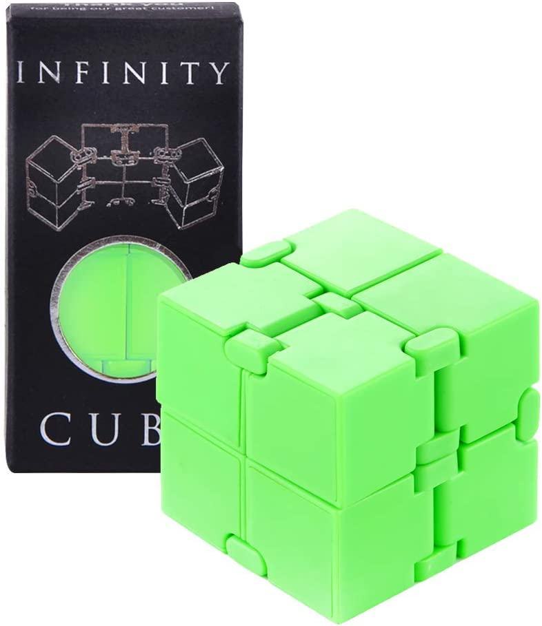 Anti Anxiety Infinite Cube Toy Adults and Children Improve Concentration Kill Time Newest Upgraded Durable Stress Relief Puzzle Sensory Fidget Magic Cube for Autism