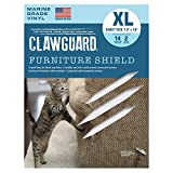 CLAWGUARD Marine Grade Furniture Shields The Ultimate Clear Cat Scratch Pads to Protect Cover Couch, Sofa, Chair, Upholstery. Flexible Protection Stops Pets Scratching Clawing. 2 XL PCS.