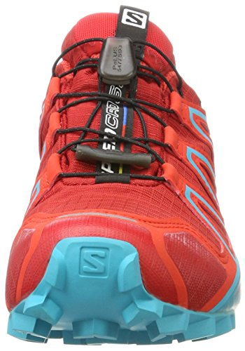 Barbados Rojo de Mujer 4 Senderismo W Speedcross Red para Zapatillas Poppy Cherry Lago Deep GTX Salomon Fzwqv