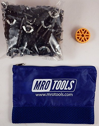50 5/32 Standard Wing-Nut Cleco Fasteners w HBHT Tool & Carry Bag (KWN1S50-5/32) by MRO Tools Cleco Fasteners