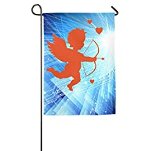 Popular Cupid Bow And Arrow Valentine's Day Garden Flags