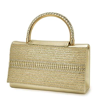 Vintage Bag for Women clutch crystal diamonds handle ladies gold handbags shoulder bag evening bags