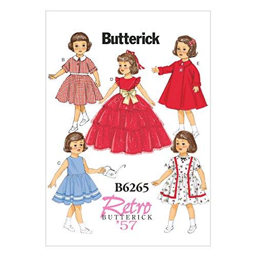 "Mccall Pattern Butterick Patterns B6265OSZ 18"" Doll Cloth..."