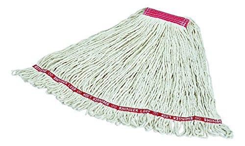 Rubbermaid Commercial Products Swinger Loop Mop, Large, 1-inch Headband, White (FGC11306WH00) by Rubbermaid Commercial Products (Image #2)